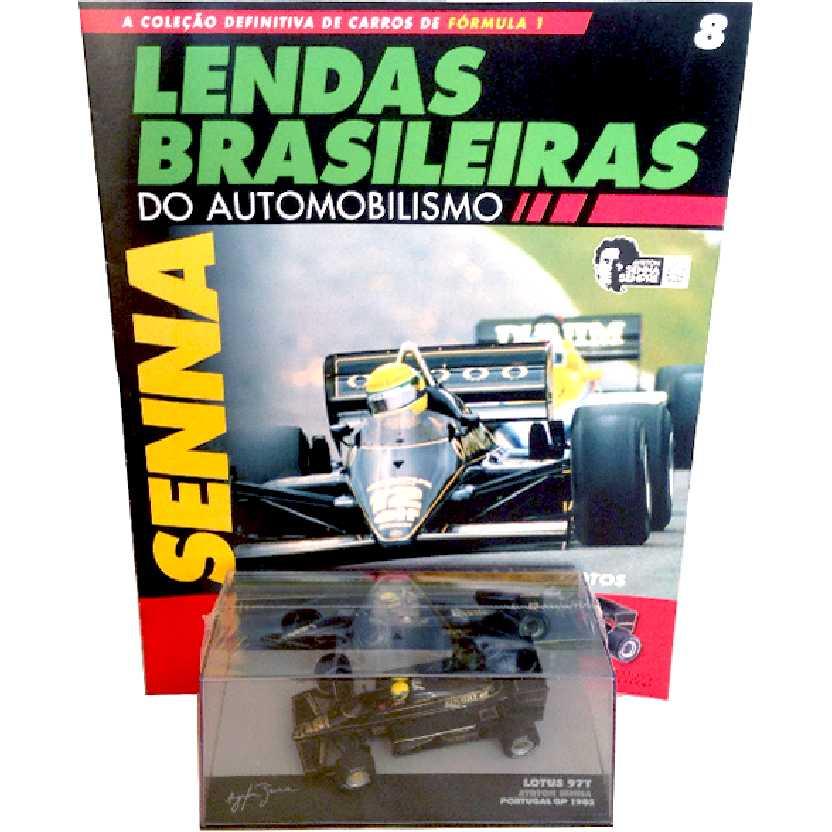 Lotus 97T Ayrton Senna (1985) Lendas Brasileiras #8 do Automobilismo escala 1/43