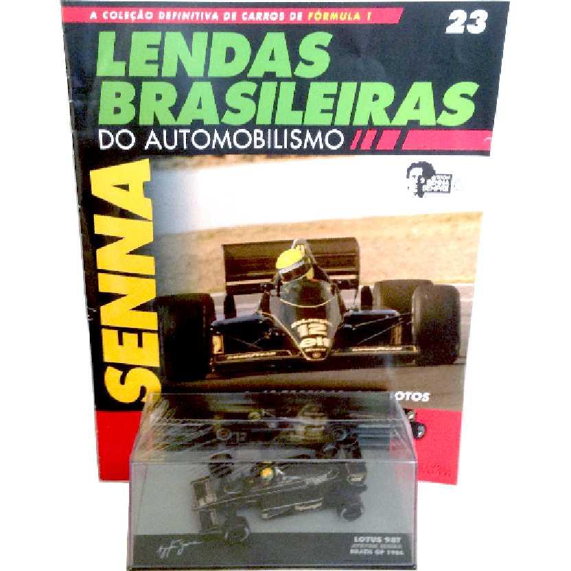 Lotus 98T Ayrton Senna (1986) Lendas Brasileiras #23 do Automobilismo escala 1/43