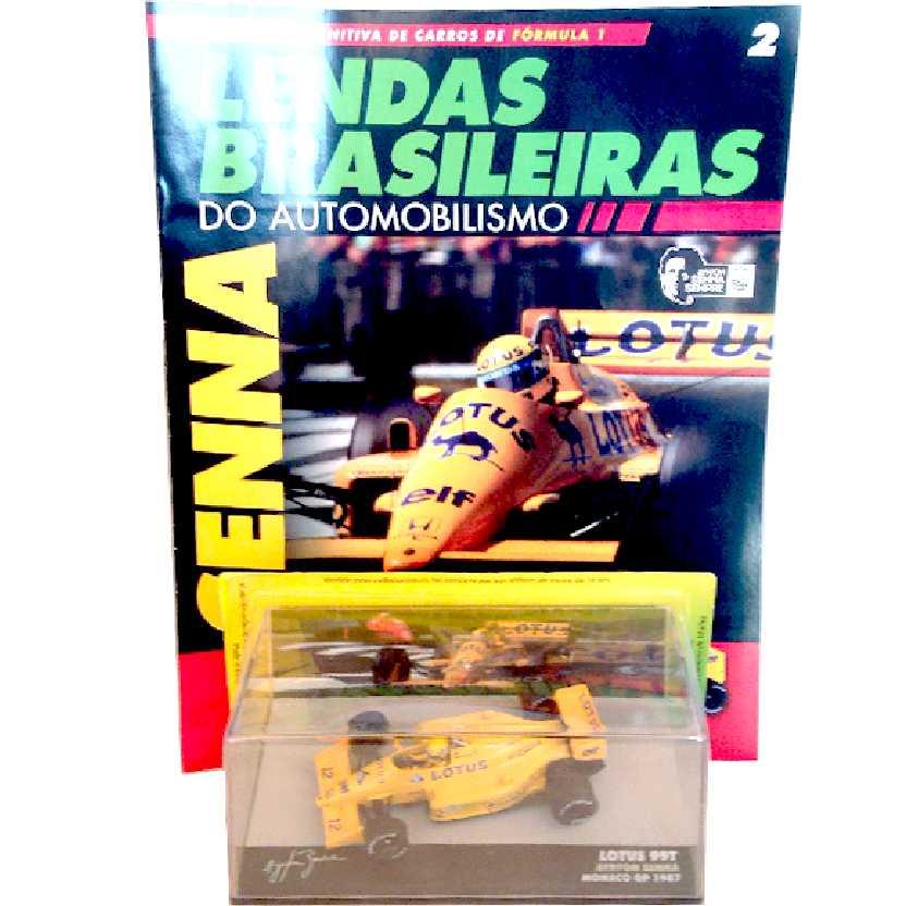 Lotus 99T Ayrton Senna (1987) Lendas Brasileiras #2 do Automobilismo escala 1/43