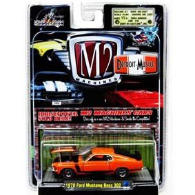M2 Carrinhos Colecionáveis escala 1/64 Ford Mustang Boss 302 (1970) R3 31600