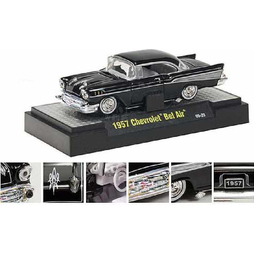 M2 Machines 1957 Chevrolet Bel Air preto escala 1/64 Auto-Dreams R10 31500