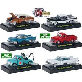 M2 Machines 6 Miniaturas de Carro escala 1/64 Auto-Thentics série 14 R14 31500