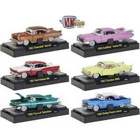 M2 Machines 6 Miniaturas de Carros escala 1/64 Auto-Thentics série 11 R11 31500