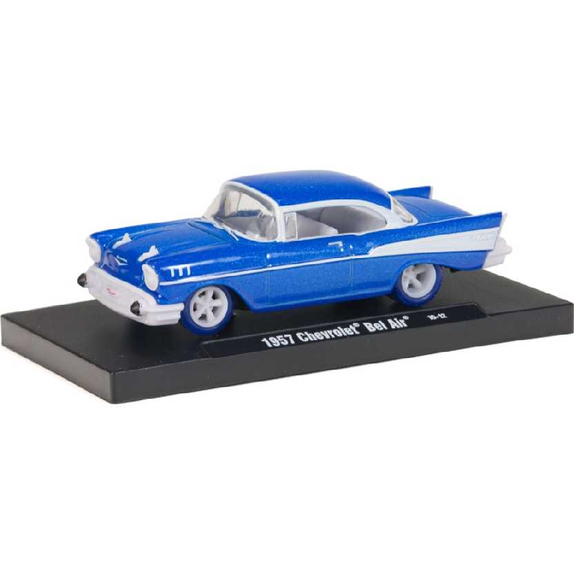 M2 Machines CHASE Auto-Drivers 1957 Chevrolet Bel Air escala 1/64 11228 R06