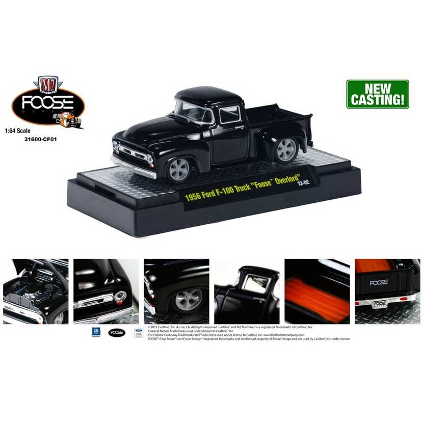 M2 Machines Chip Foose R1 series 1 - 1956 Ford F-100 Truck FOOSE Overlord escala 1/64