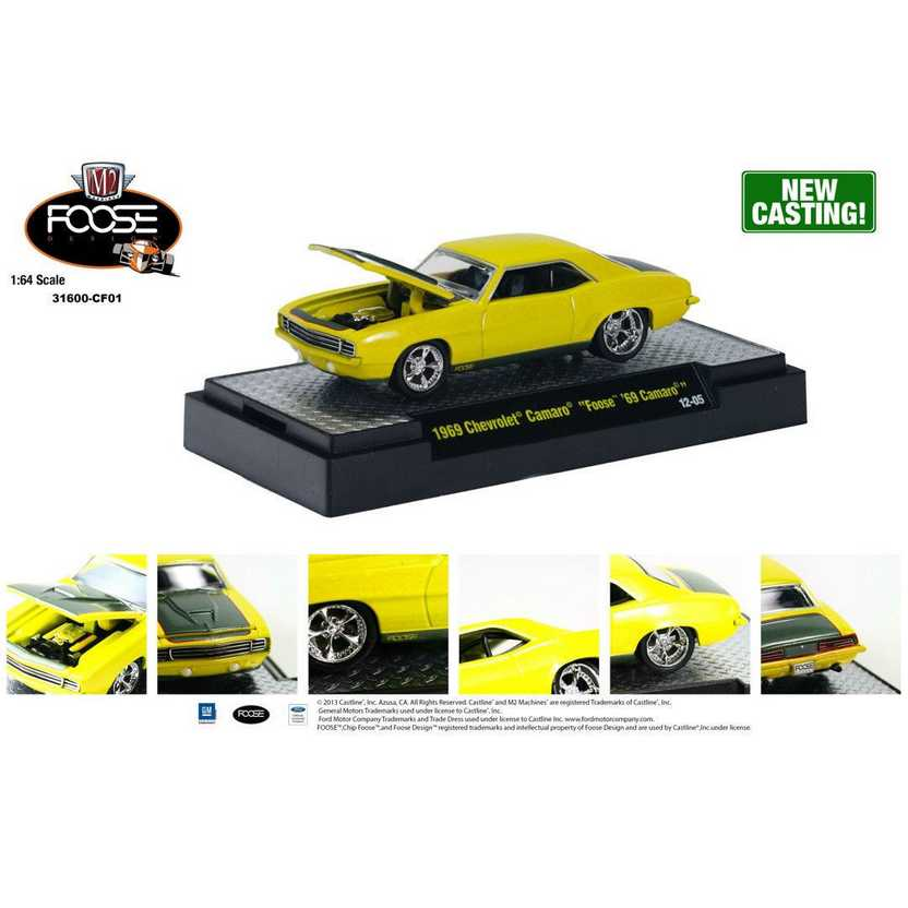 M2 Machines Chip Foose R1 series 1 - 1969 Chevrolet Camaro FOOSE escala 1/64