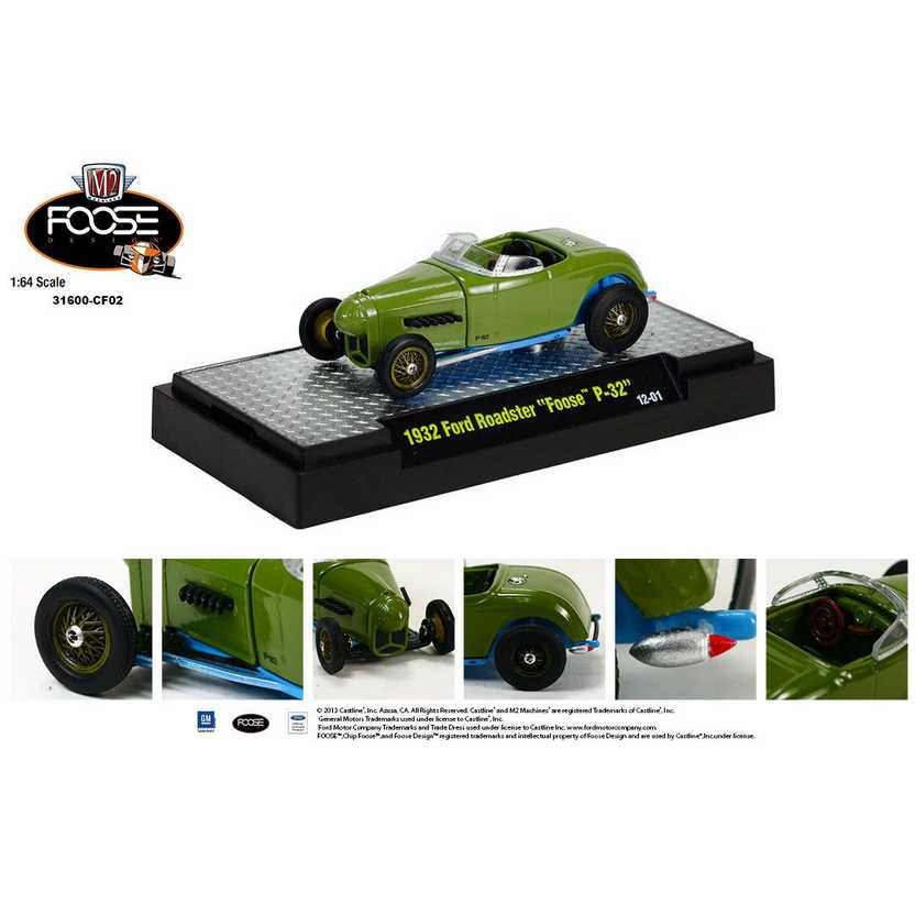M2 Machines Chip Foose R2 series 2 - 1932 Ford Roadster Foose P-32 escala 1/64