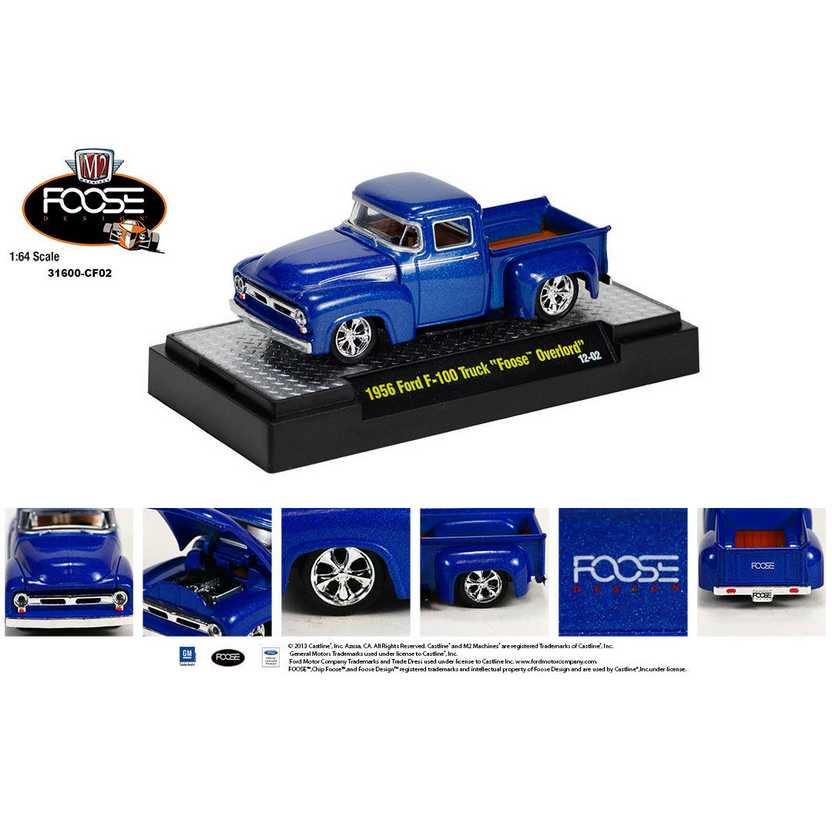M2 Machines Chip Foose R2 series 2 - 1956 Ford F-100 Foose Overlord escala 1/64
