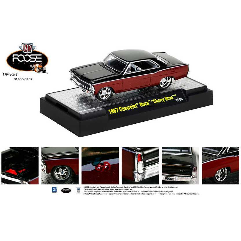 M2 Machines Chip Foose R2 series 2 - 1967 Chevrolet Nova Cherry Nova escala 1/64
