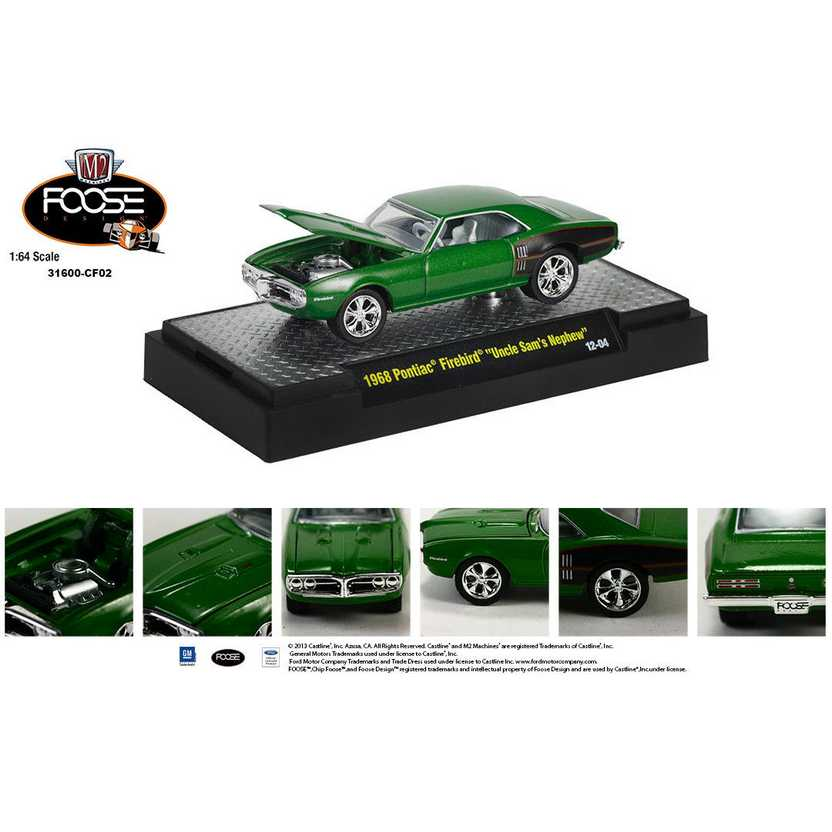 M2 Machines Chip Foose R2 series 2 -1968 Pontiac Firebird escala 1/64