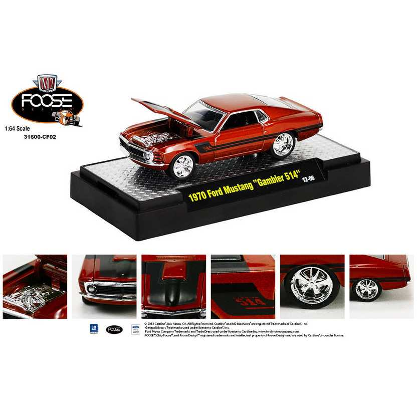 M2 Machines Chip Foose R2 series 2 - 1970 Ford Mustang Gambler 514 escala 1/64