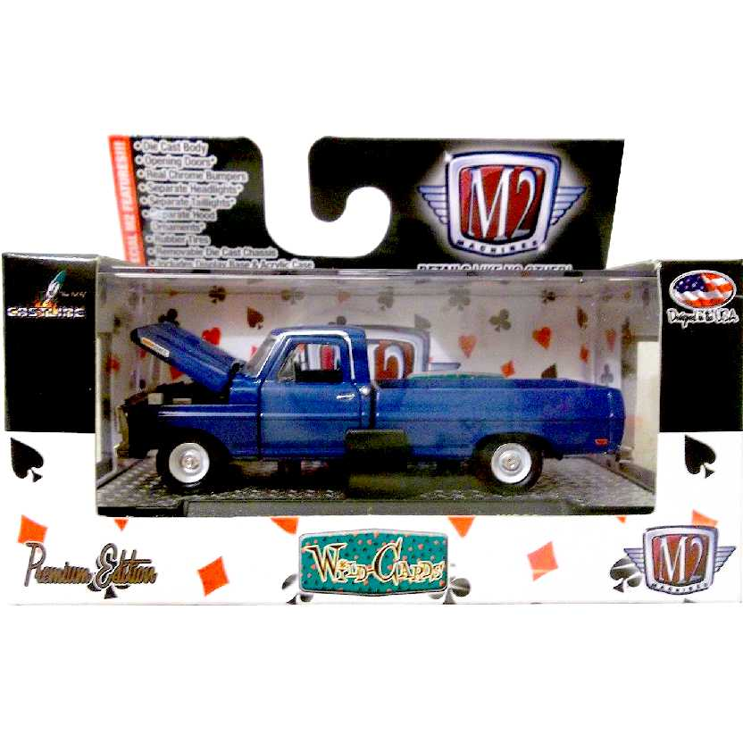 M2 Machines Pickup Ford F-100 Truck (1969) abre portas e motor escala 1/64 32500 WC8