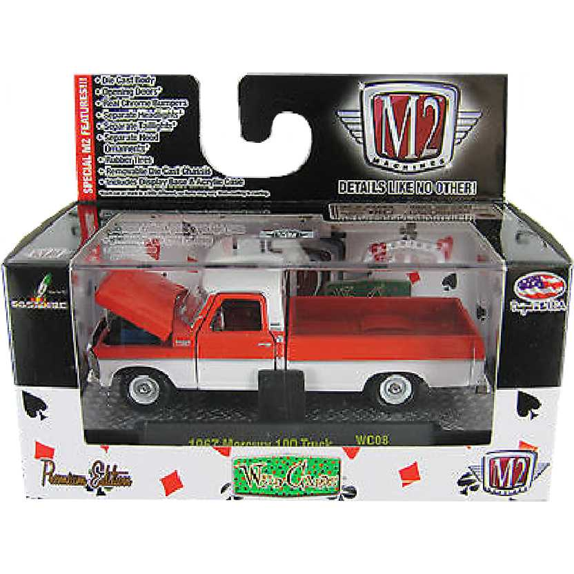 M2 Machines Pickup Mercury 100 Truck (1969) similar Ford F-100 escala 1/64 32500 WC8