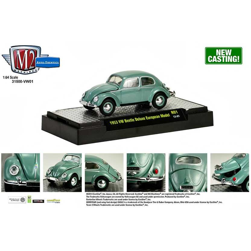 M2 Machines Volkswagen R1 series 1 - 1953 VW ( Fusca ) Beetle Deluxe European escala 1/64
