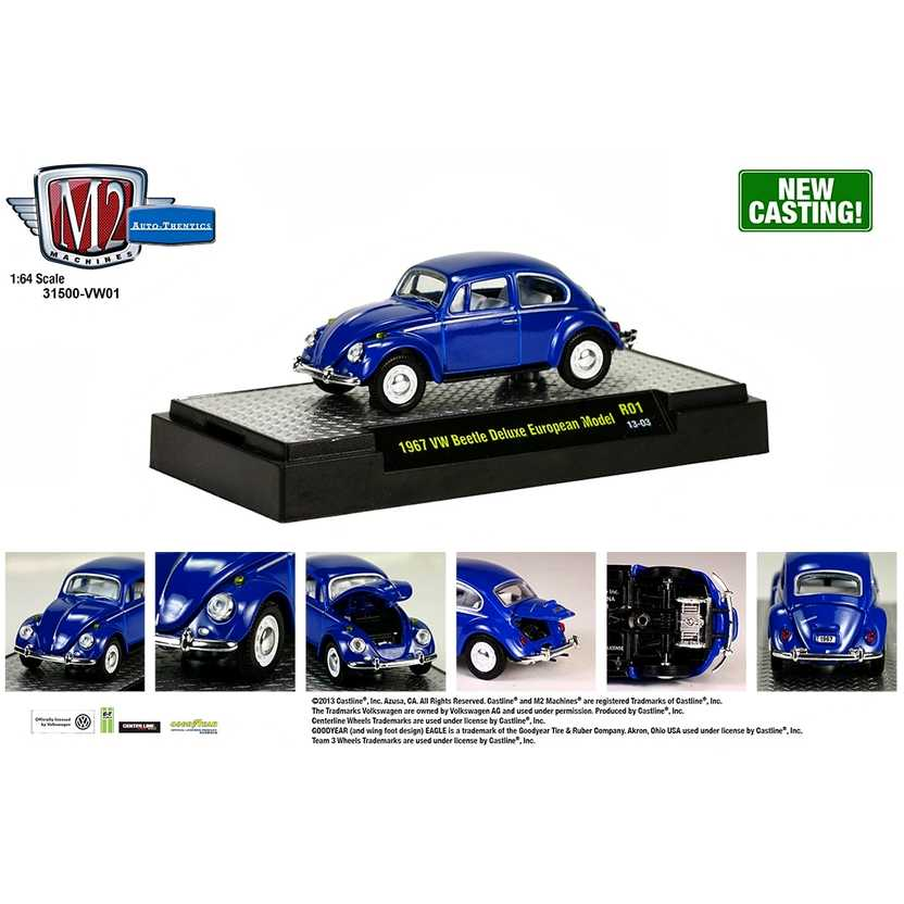 M2 Machines Volkswagen R1 series 1 - 1967 VW ( Fusca ) Beetle Deluxe European escala 1/64