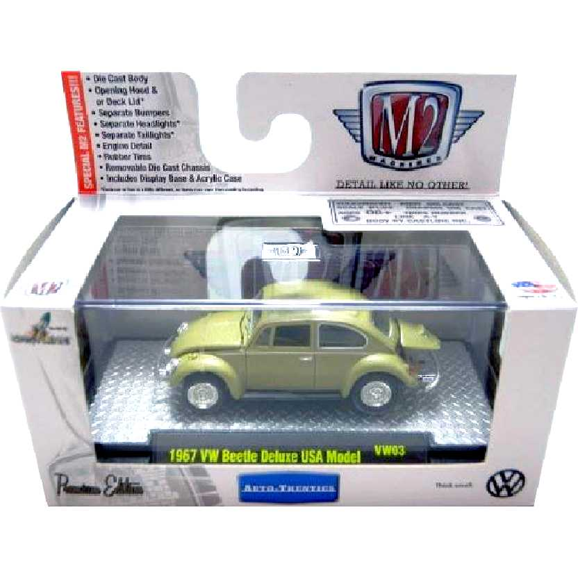 M2 Machines VW Fusca (1967) Volkswagen Beetle escala 1/64 32500 VW03 R3