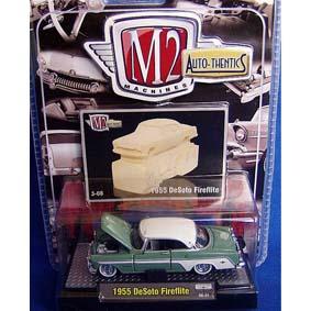 M2 Miniaturas de Carros Antigos DeSoto Fireflite (1955) série 3B R03B 31500
