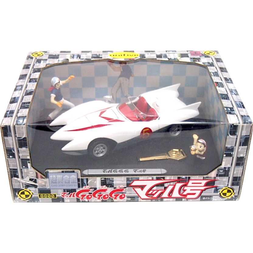Mach 5 com LUZ + Speed Racer, Zequinha e Gorducho marca Unifive escala 1/24