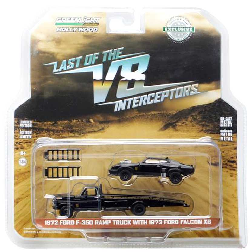 Mad Max Ford Falcon XB + Ford F-350 Ramp Truck  Last of the V8 Interceptors escala 1/64