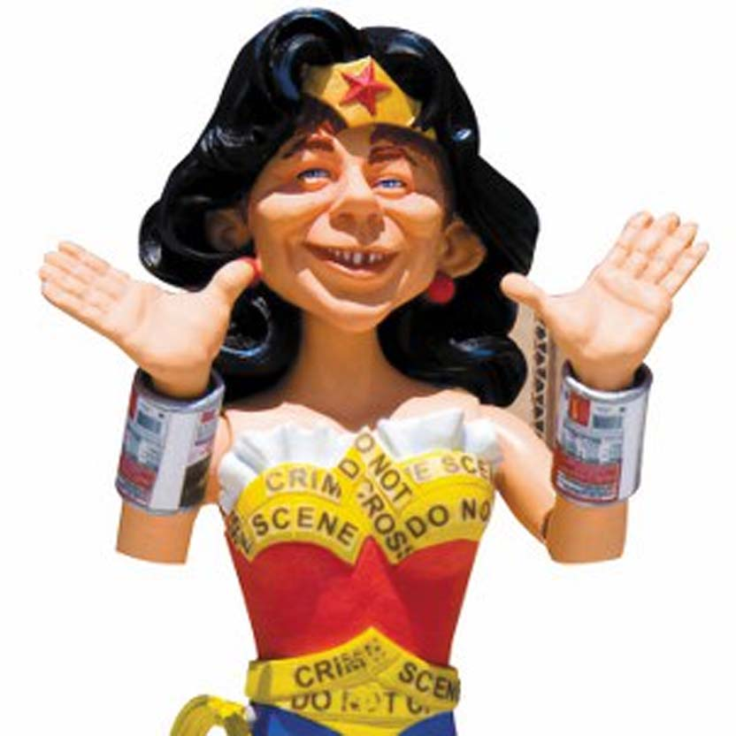 MAD Wonder Woman (Mulher Maravilha) Just Us League of Stupid Heroes Alfred Newman