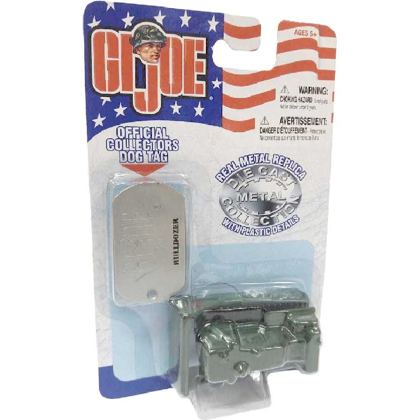 Maisto GI Joe + Dog Tag de metal Trator Bulldozer verde escala 1/64