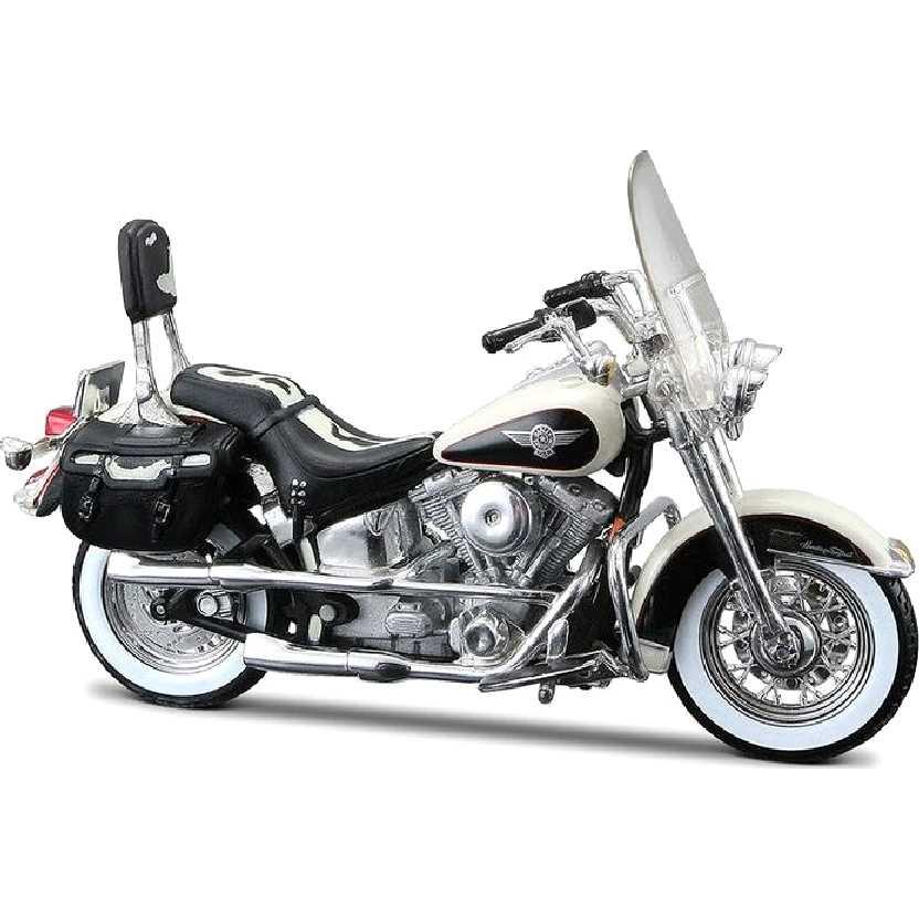 Maisto Harley Davidson Heritage Softail Nostalgia FLSTN S-30 (1993) escala 1/18 raro