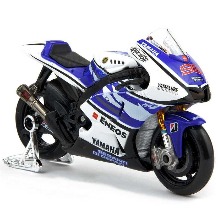 Maisto Moto GP CAMPEÃO 2012 Yamaha YZR-M1 No 99 Jorge Lorenzo escala 1/18