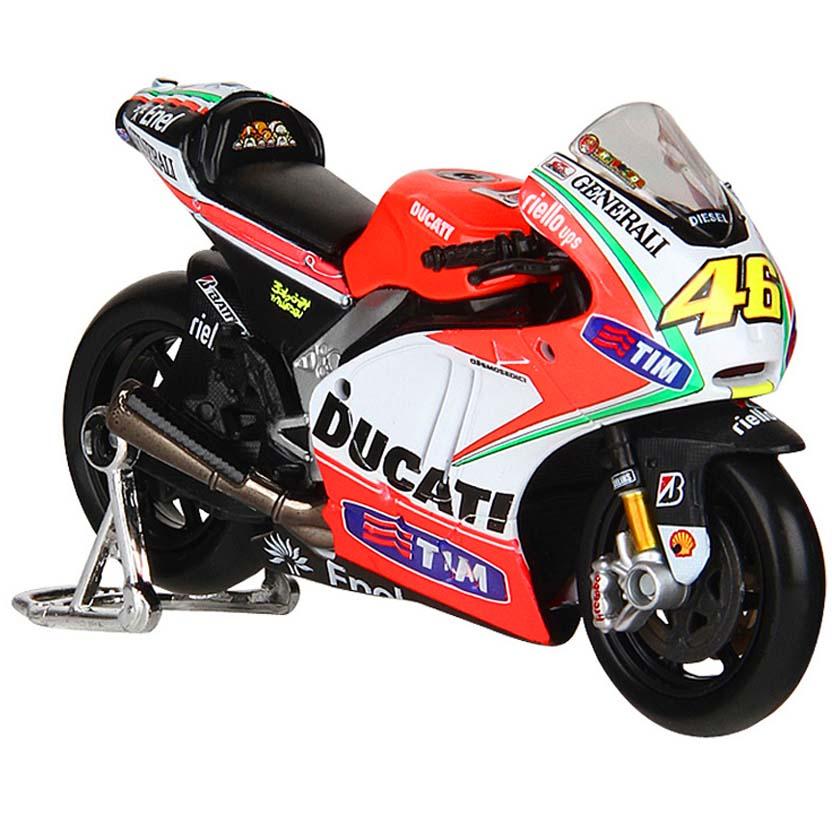 Maisto MotoGP 2012 escala 1/18 : Valentino Rossi No 46 Ducati Desmosedici