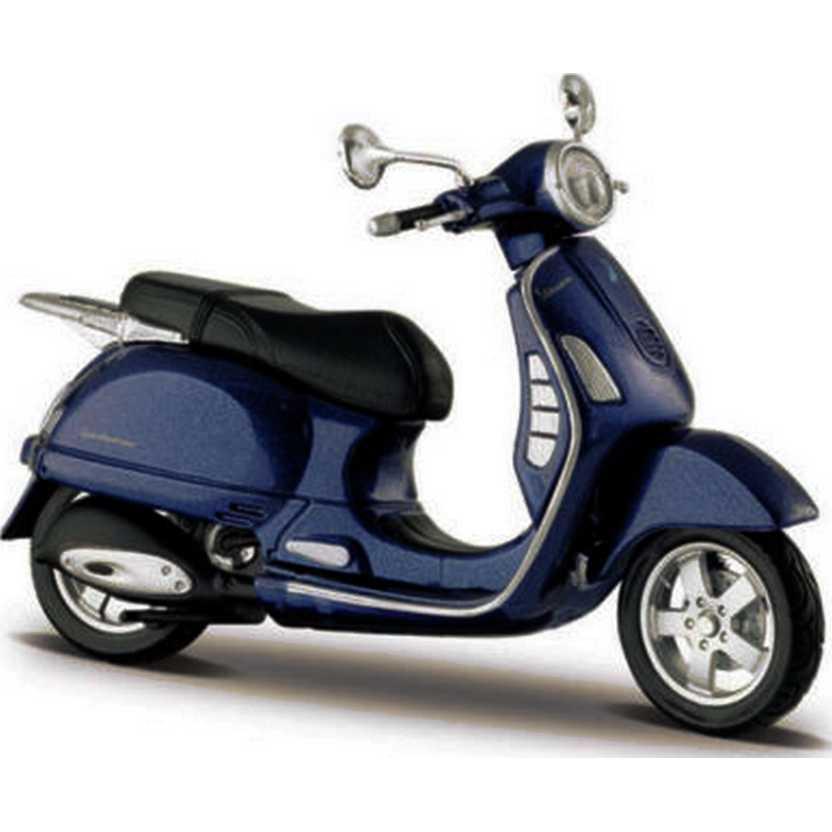 Maisto Vespa 200 Granturismo GT azul (2003) - Miniaturas de motos de ferro com retrovisores