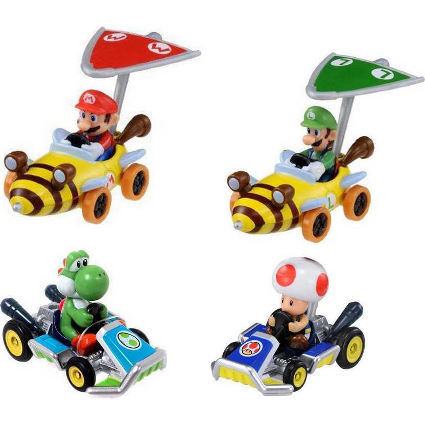 Mario / Luigi / Toad / Yoshii - Mario Kart 7 TOMY diecast 4 pack