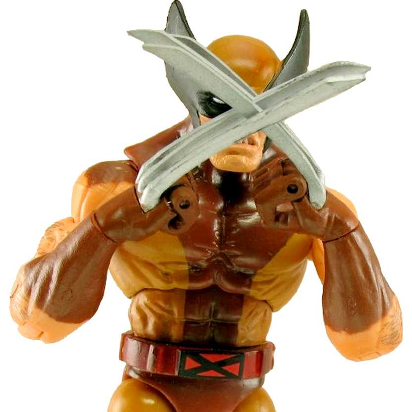Marvel Legends - Wolverine brown costume (aberto) Toy Biz action figures