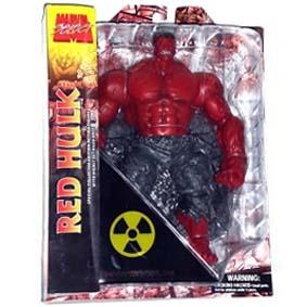 Marvel Select Boneco Hulk articulado (14 pontos) vermelho