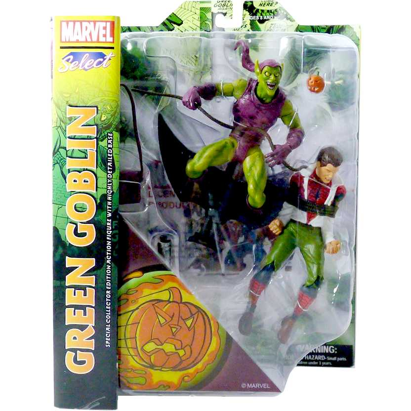 Marvel Select - Classic Green Goblin + Spider-Man (Duende Verde com Homem Aranha)