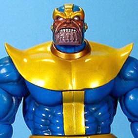 Marvel Select Thanos e Morte ( maior estrategista do mundo Marvel )