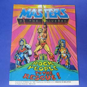 Masters of the Universe Vintage Comic Book - Rock People to the Rescue