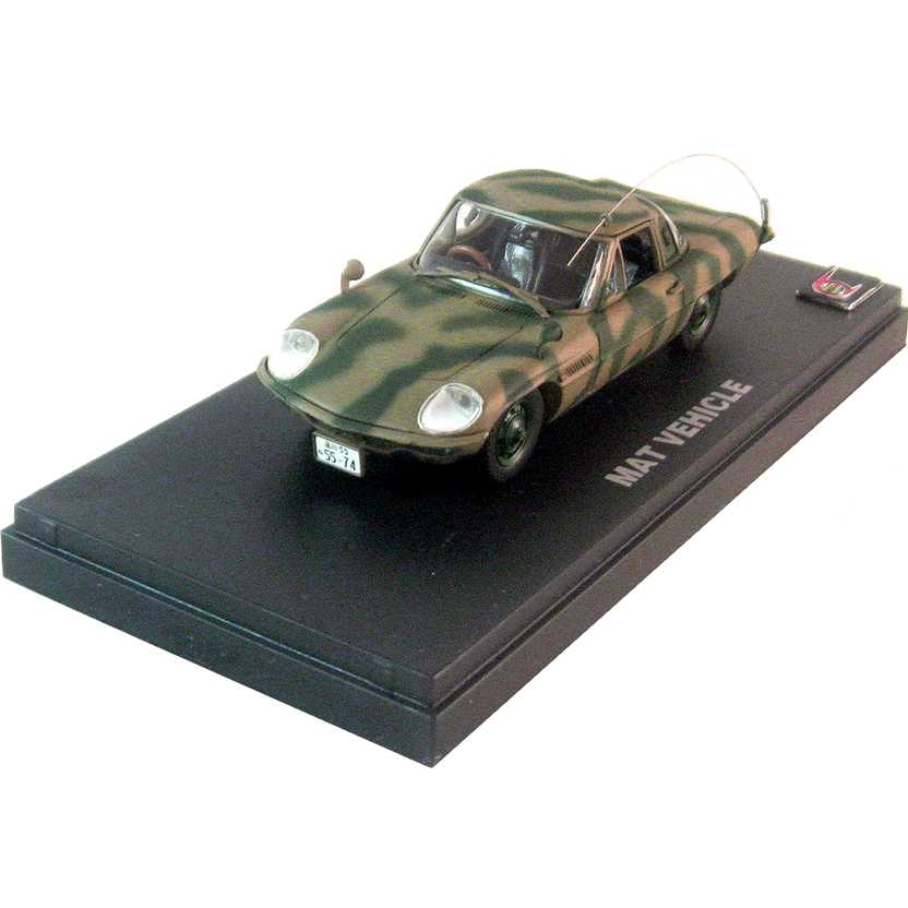 MAT vehicle - Mazda Cosmo Sport camuflado ( carro do Ultraman - Hideki Go ) escala 1/43