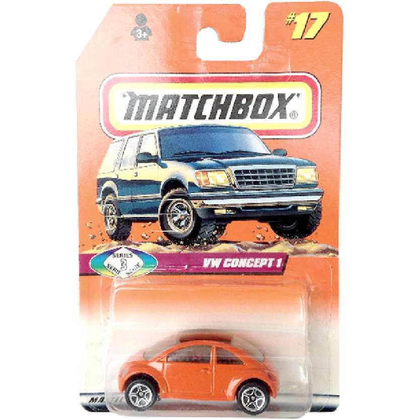 Matchbox 1998 VW Volkswagen Concept 1 (Fusca New Beetle) #17 series 3 escala 1/64