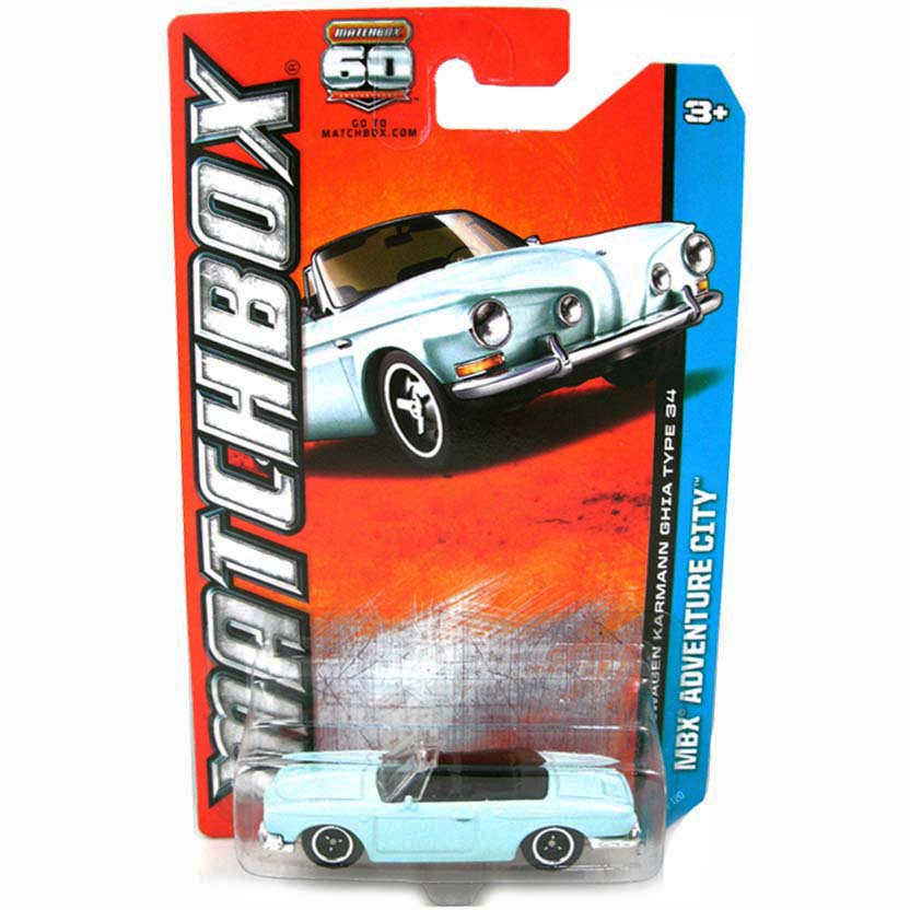 Matchbox 2013 Volkswagen Karmann Ghia Type 34 (Matchbox 60th Anniversary) 35 of 120 Y0562