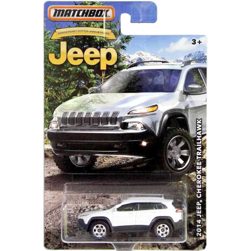 Matchbox 2014 Jeep Cheerokee Trailhawk 75th Anniversary edition escala 1/64 DMN30