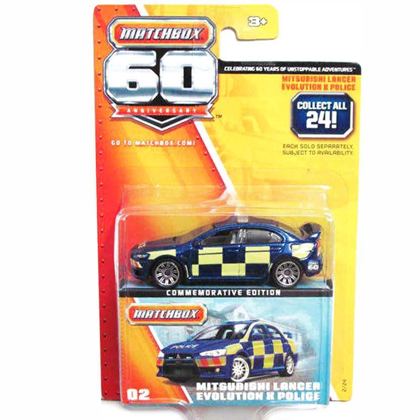 Matchbox 60 Anniversary 2/24 Mitsubishi Lancer Evolution X Police Y5353