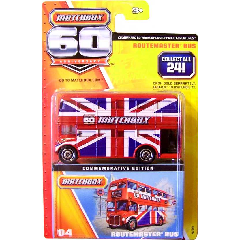 Matchbox 60 Anniversary Routemaster bus (ônibus ingles de 2 andares) series 04/24 Y5336