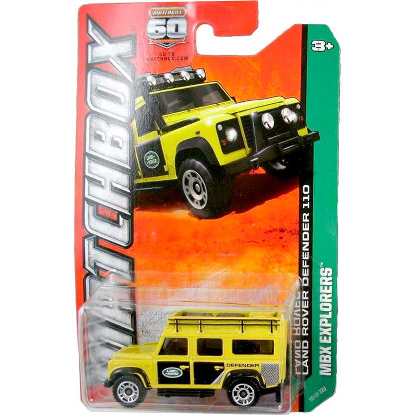 Matchbox 60th Anniversary Land Rover Defender 110 Y0845 series 59/120 escala 1/64