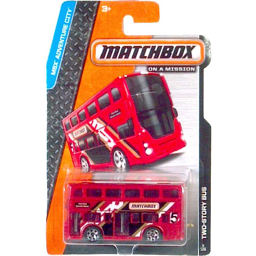 Matchbox Adventure City Two-Story Bus Union Road Edmonton Special 6/120 BDV26 escala 1/64