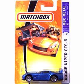 Matchbox catálogo 2007 Dodge Viper GTS-R número 17 K9482
