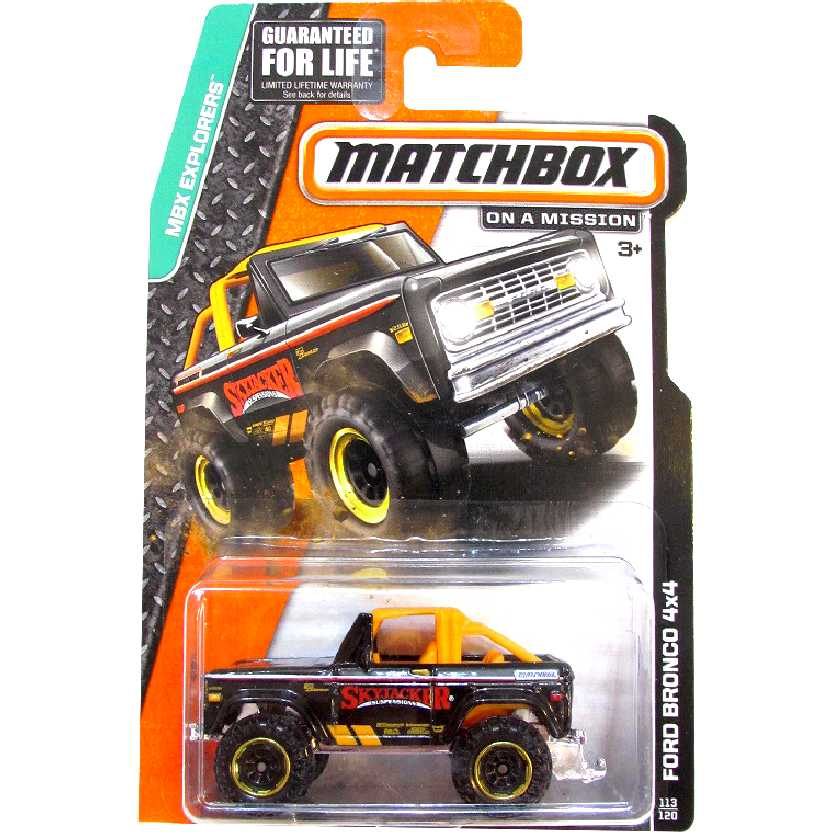 Matchbox Ford Bronco 4X4 Skyjacker suspensions (1972) CFW87-0910 escala 1/64