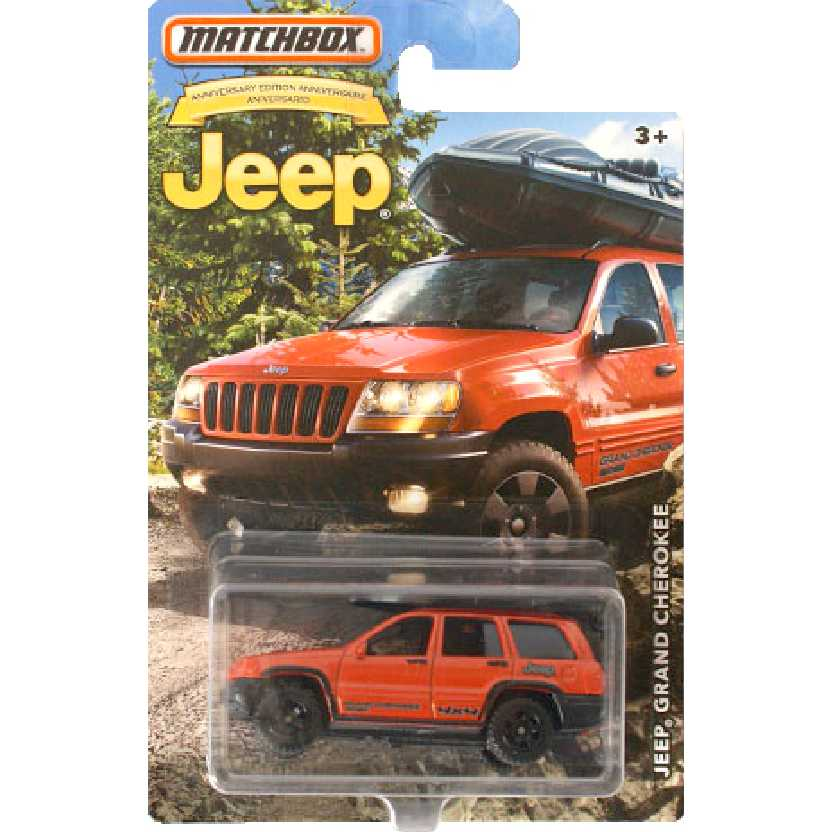 Matchbox Jeep 75th Anniversary edition Jeep Grand Cherokee escala 1/64 DMN33