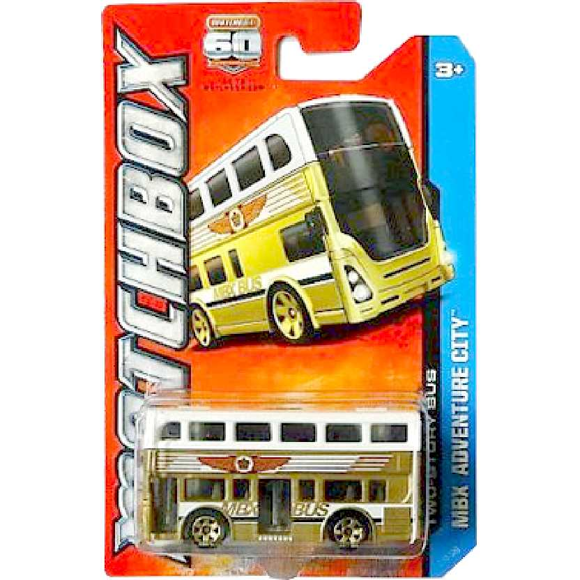 Matchbox Two Story Bus London Bus (Double Deck) Y0502 escala 1/64