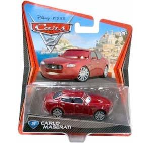Mattel Disney Pixar Diecast Cars 2 Carlo Maserati #25 filme Carros 2