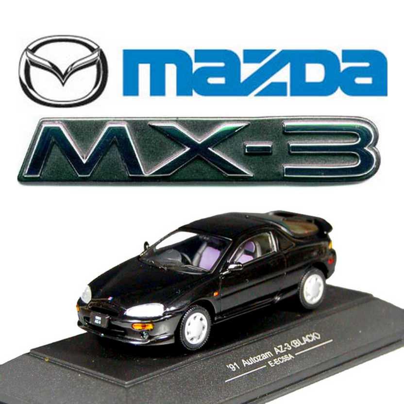 Mazda MX-3 preto (1991) Autozam AZ-3 marca Sapi Models escala 1/43
