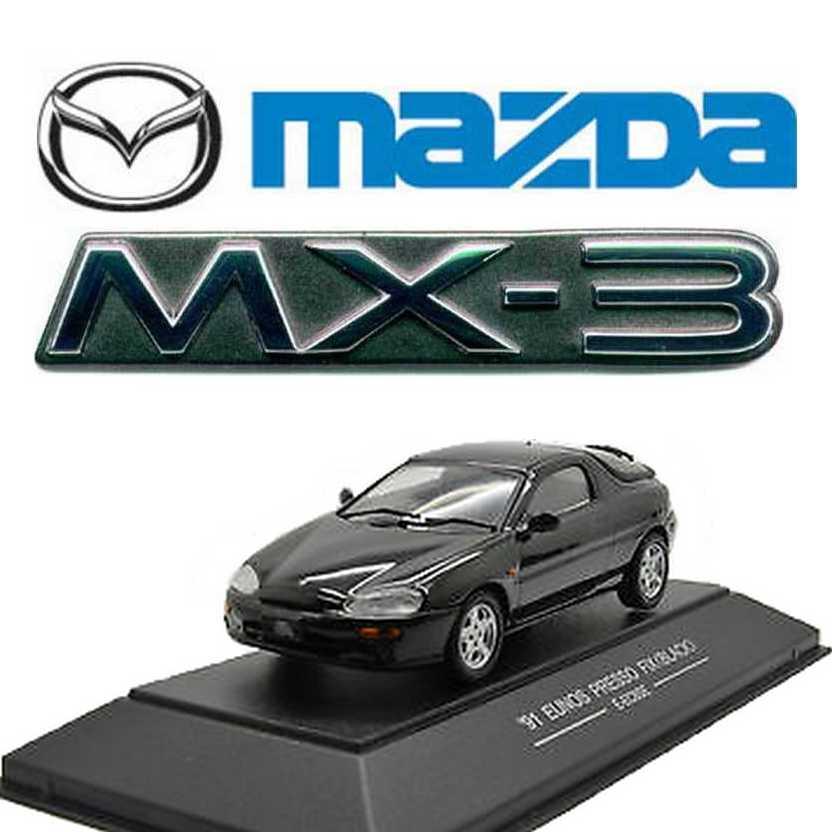 Mazda MX-3 preto (1991) Eunos Presso Fix marca Sapi Models E-EC8SE escala 1/43